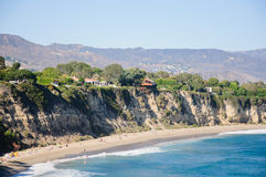 Ansicht von Duma Point, Malibu Kalifornien Lizenzfreie Stockfotografie