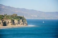 Ansicht von Duma Point, Malibu Kalifornien Stockbild