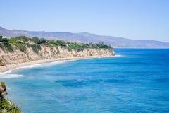 Ansicht von Duma Point, Malibu Kalifornien Stockfotografie