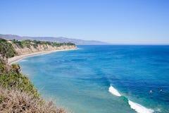 Ansicht von Duma Point, Malibu Kalifornien Stockbilder