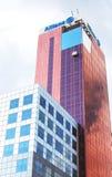 Ansicht von Edificio die Allianz, Barcelona, Spanien Stockfoto