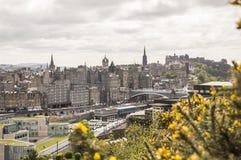 Ansicht von Edinburgh vom Calton Hügel lizenzfreie stockfotos