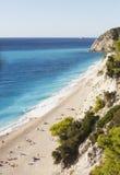 Ansicht von Egremni-Strand Lizenzfreie Stockfotos