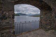 Ansicht von Eilean Donan Castle, Schottland Stockfotos