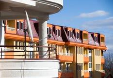 Ansicht von einem Balkon Stockfotos