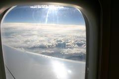 Ansicht von einem Flugzeug stockbilder
