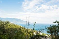 Ansicht von einem Hügel Stockbild