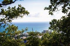 Ansicht von einem Hügel Stockfotografie