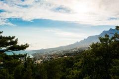Ansicht von einem Hügel Lizenzfreies Stockbild