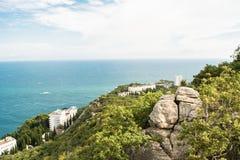Ansicht von einem Hügel Lizenzfreie Stockbilder