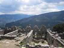 Ansicht von einem römischen Tempel Lizenzfreie Stockfotografie