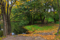 Ansicht von einem Teich Stockfoto