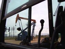 Ansicht von einem Traktor Lizenzfreie Stockbilder