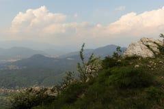 Ansicht von einem Vorgebirge Stockbild
