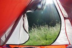 Ansicht von einem Zelt Stockfoto