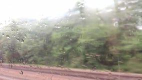 Ansicht von einem Zug Fenster stock video footage