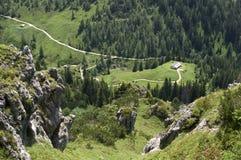 Ansicht von einer Alpe Stockfotos