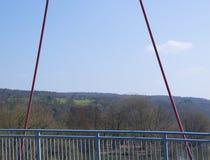 Ansicht von einer Brücke im Wald Spessart Lizenzfreie Stockbilder