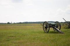 Ansicht von einer Gettysburg-Kanone Stockbilder