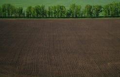 Ansicht von einer Höhe auf einem gepflogenen Gebiet stockfotografie