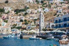 Ansicht von einer Symi-Insel, Dodecanese, Griechenland Stockfoto