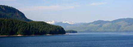 Ansicht von eisiger Straße, Alaska Lizenzfreie Stockfotos