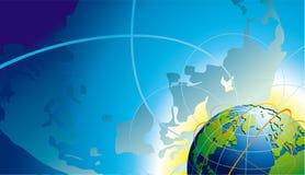 Ansicht von Erde Lizenzfreie Stockfotos