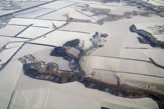 Ansicht von Erde von, Winter lizenzfreies stockfoto
