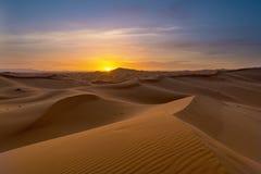 Ansicht von Erg Chebbi-Dünen - Sahara Desert Stockfotos