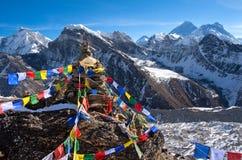 Ansicht von Everest vom gokyo ri Stockbild