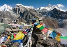 Ansicht von Everest von gokyo ri - Weise zu niedrigem Lager Everest stockfoto