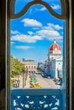 Ansicht von Ferrer-Palast, Cienfuegos lizenzfreie stockbilder
