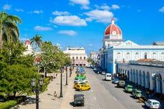 Ansicht von Ferrer-Palast, Cienfuegos, Kuba lizenzfreie stockfotografie