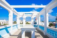 Ansicht von Ferrer-Palast, Cienfuegos, Kuba stockbild