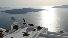 Ansicht von Fira in Santorini, Griechenland lizenzfreies stockfoto