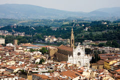 Ansicht von Firenze von der Haube Lizenzfreies Stockbild