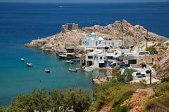 Ansicht von Firopotamos in Griechenland Lizenzfreie Stockfotografie