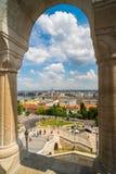 Ansicht von Fischer ` s Bastion im Herzen Buda-` s Schlosses Dist Stockbilder