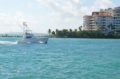 Ansicht von Fisher Island, Miami Beach, Florida Lizenzfreies Stockfoto