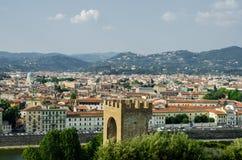 Ansicht von Florenz während Stockbild