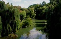Ansicht von Fluss L ` Indre, Loire Valley, Frankreich Lizenzfreies Stockfoto
