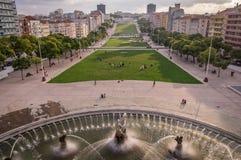Ansicht von Fonte Luminosa auf Alameda-Park, Lissabon, Portugal stockbild