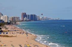 Ansicht von Fort Lauderdale mit Strand Lizenzfreies Stockfoto