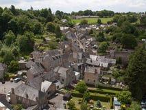Ansicht von Fougeres-Schloss Stockbild