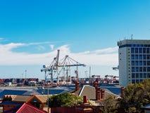 Ansicht von Fremantle-Docks, West-Australien lizenzfreies stockbild