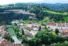 Ansicht von Fribourg von oben Lizenzfreie Stockfotografie