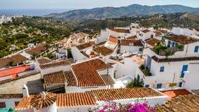 Ansicht von Frigiliana, Pueblo blanco, Spanien Stockbilder