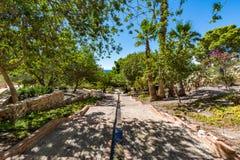 Ansicht von Gärten im Almeria u. im x28; AlmerÃa& x29; Schloss u. x28; Alcazaba von Almeria& x29; Lizenzfreies Stockfoto