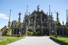 Ansicht von Gärten Isola Bella lizenzfreies stockfoto