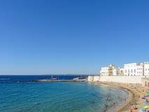 Ansicht von Gallipoli-Küstenlinie während des Sommers Stockbilder